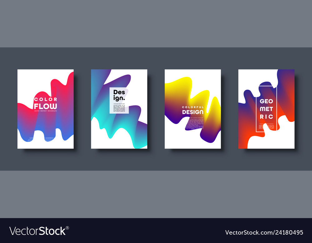 Abstract trendy geometric background with liquid
