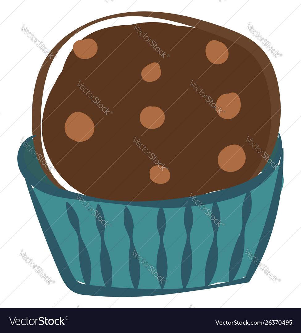 Chocolate cupcake on white background