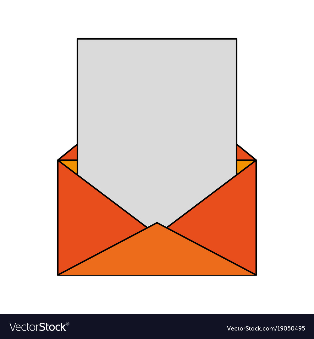 envelope with blank letter royalty free vector image