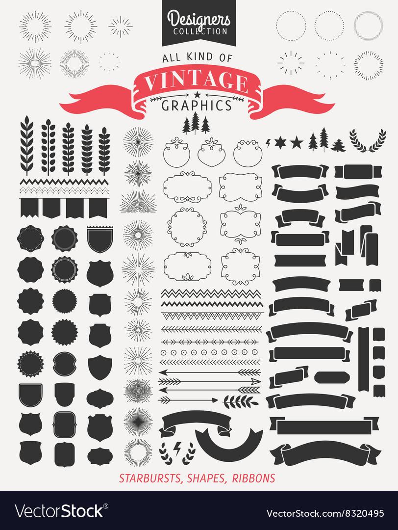 Premium design elements for retro vintage logos