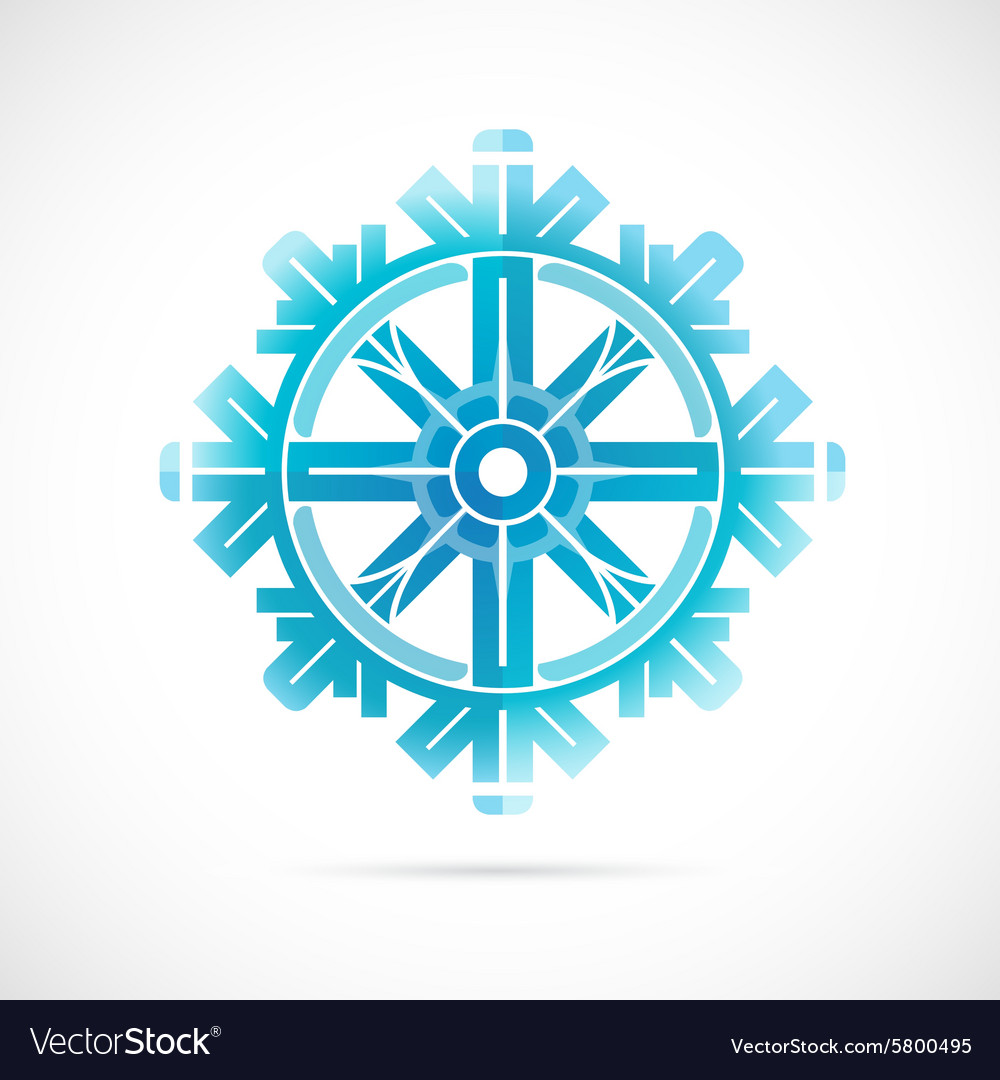 Snowflake as symbol for winter holidays