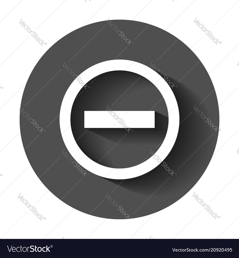 Stop sign icon in flat style danger symbol with vector image