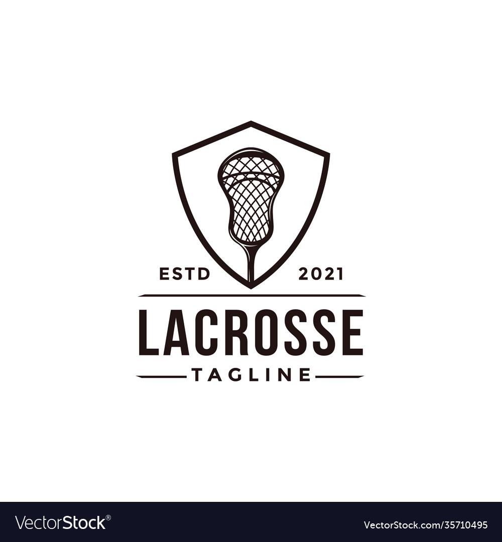 Vintage seal badge lacrosse sport logo