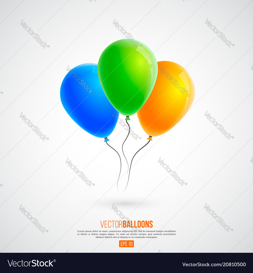 3d realistic colourful birthday or party balloons