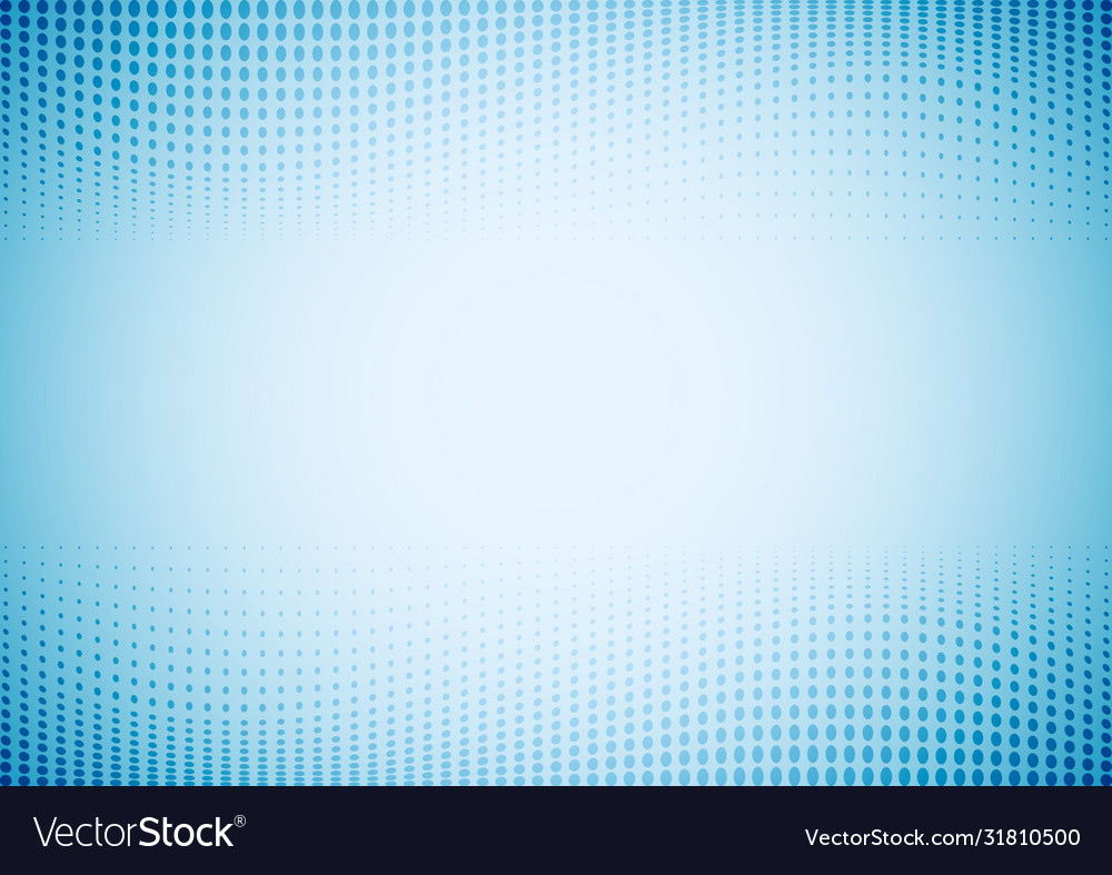 Abstract waves dots pattern halftone blue