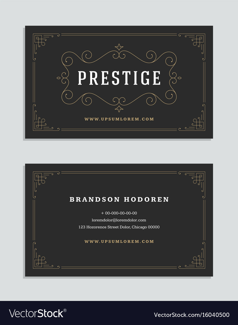 Business card vintage ornament style and luxury vector image reheart Choice Image