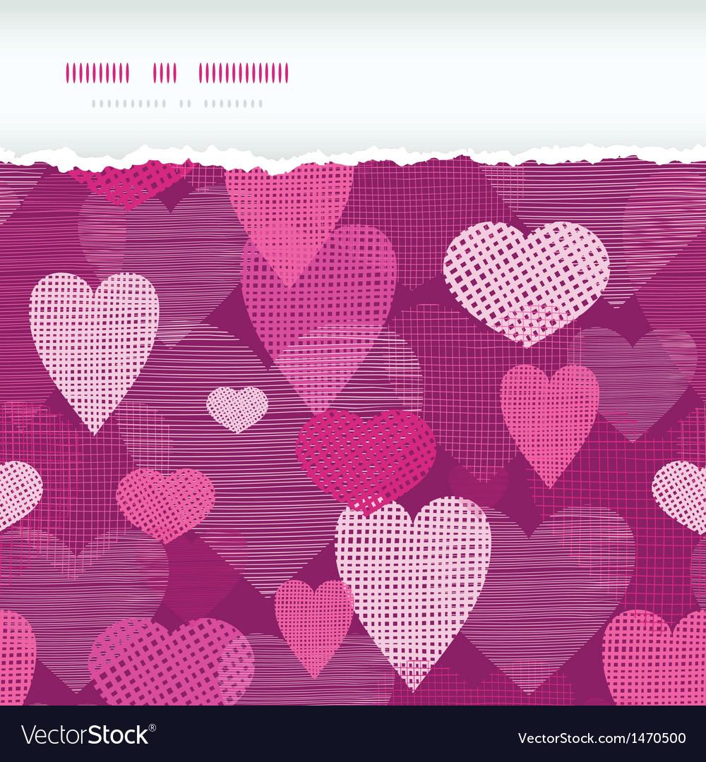 Fabric hearts romantic torn horizontal seamless