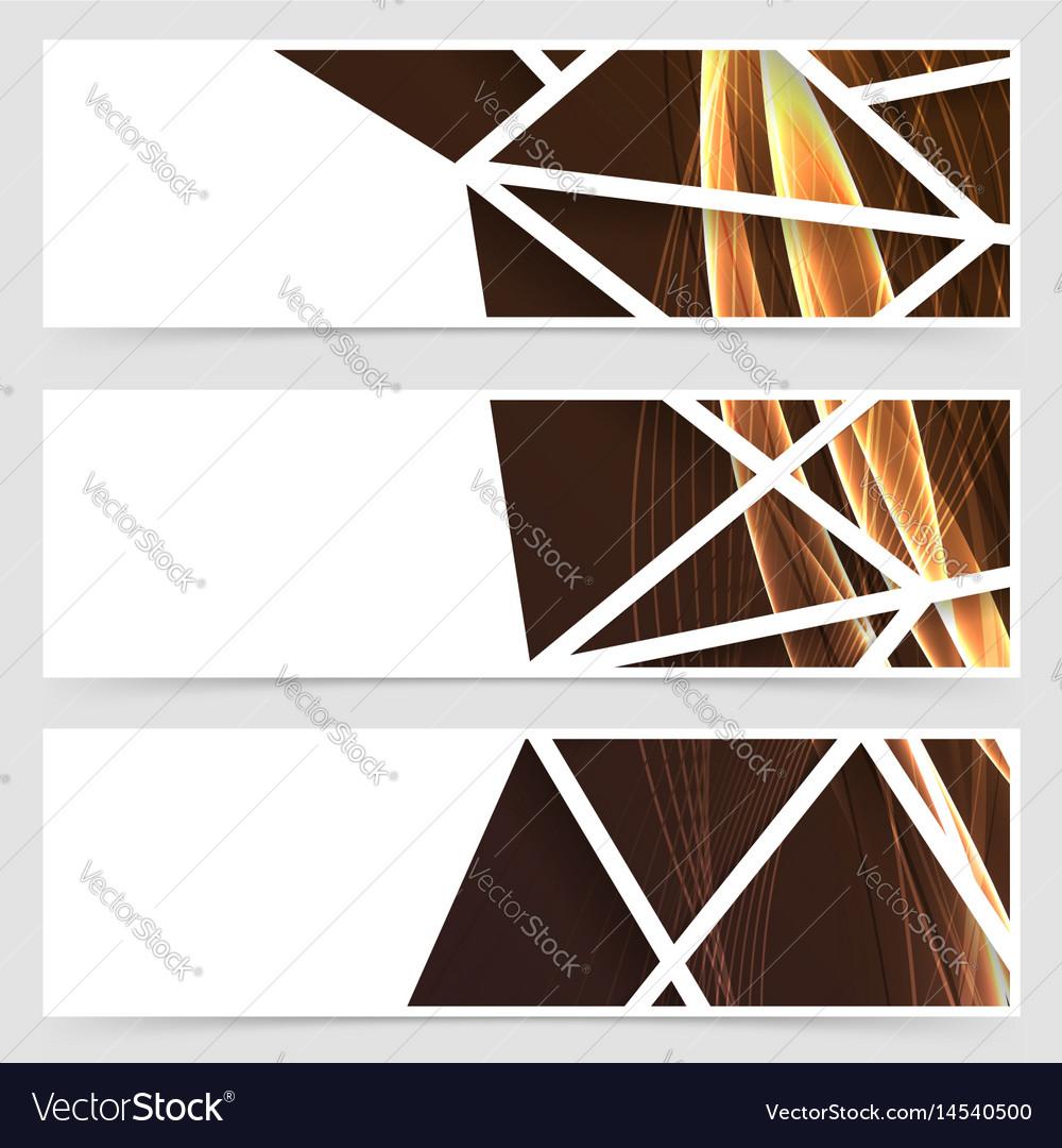 Framed modern swoosh pattern header