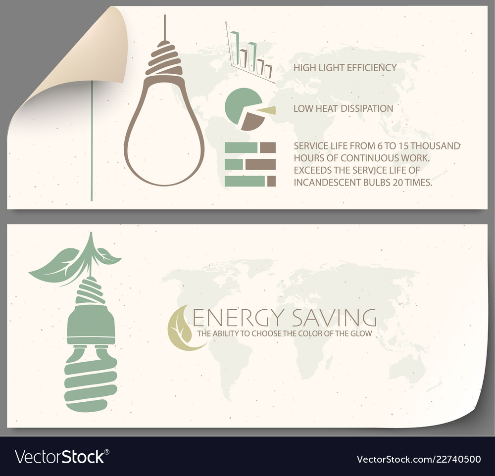 Infographic incandescent light bulb and energy