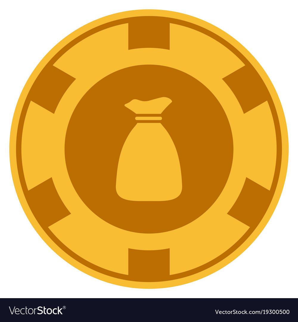 Money Bag Gold Chip Vector Image