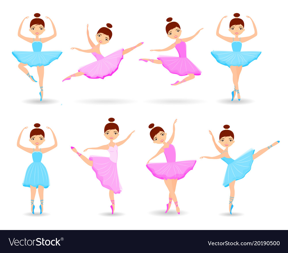 Set of girls ballet dancer