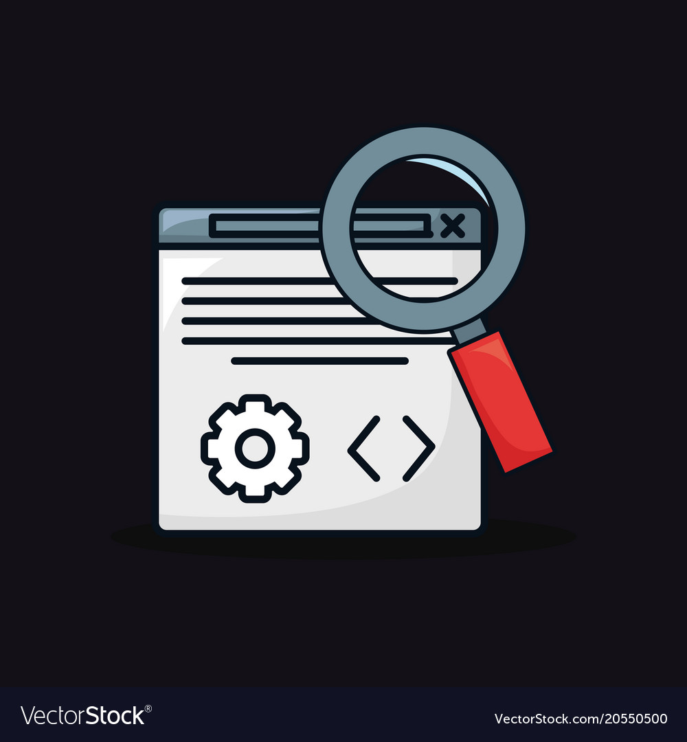 Web interface icon vector image