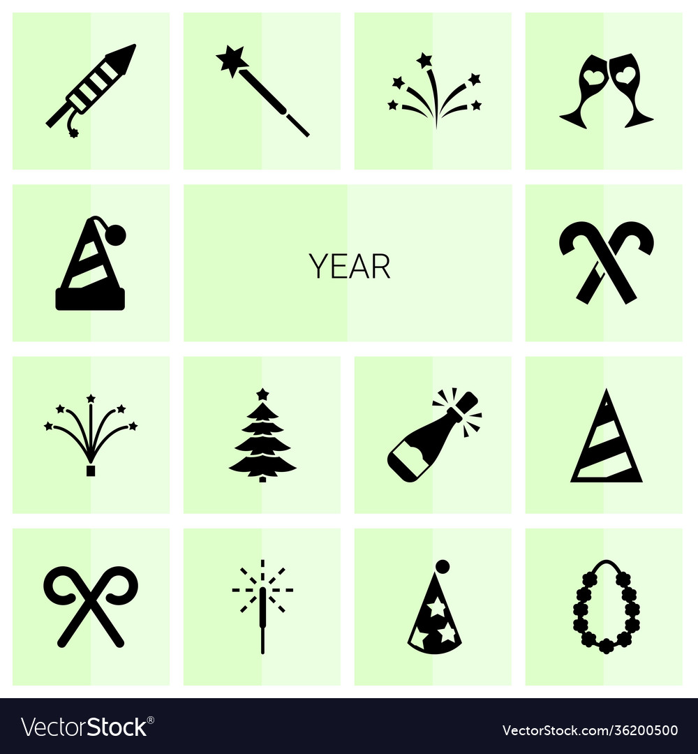 Year icons