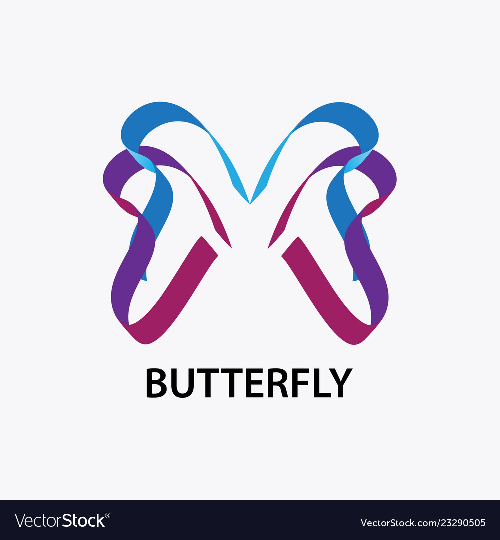 Abstract butterfly logo