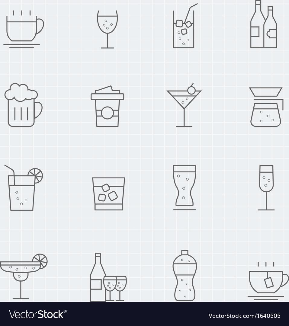 Beverage thin line symbol icon