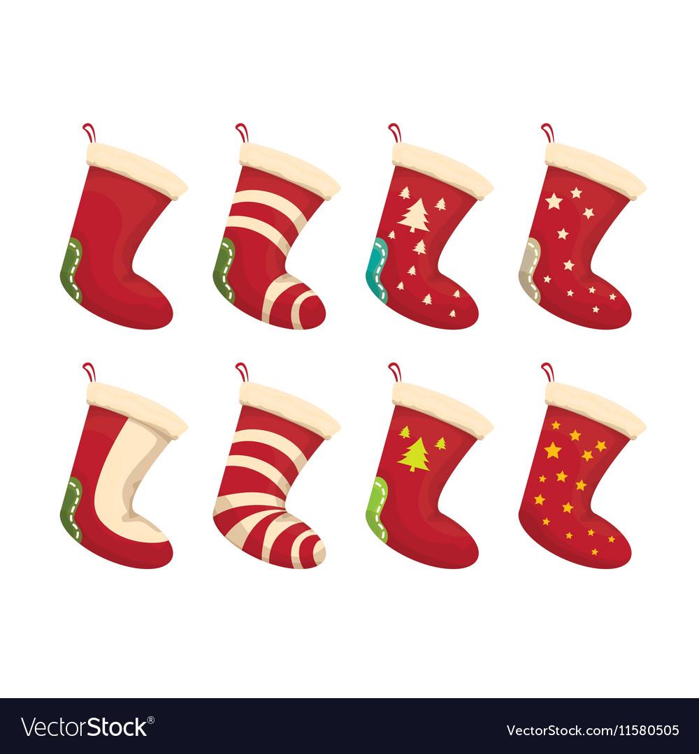 Christmas Stockings Cartoon.Cartoon Cute Christmas Stocking