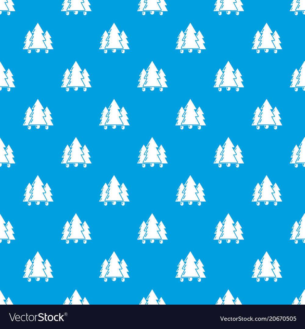 Fir tree pattern seamless blue