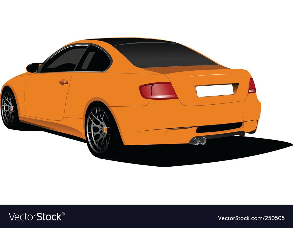 Orange car vector image