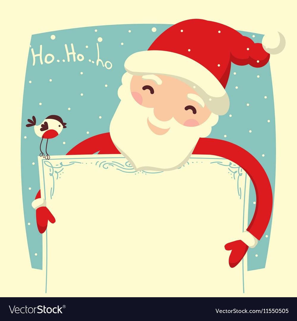 Santa Claus card for text