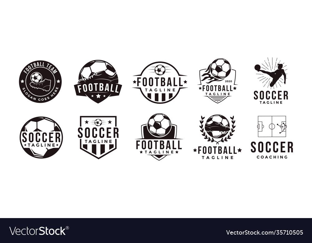 Set football soccer sport team club logo