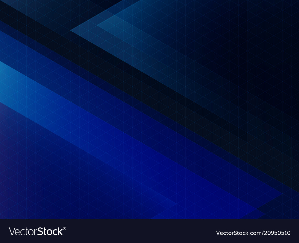 Abstract technology blue triangles pattern on