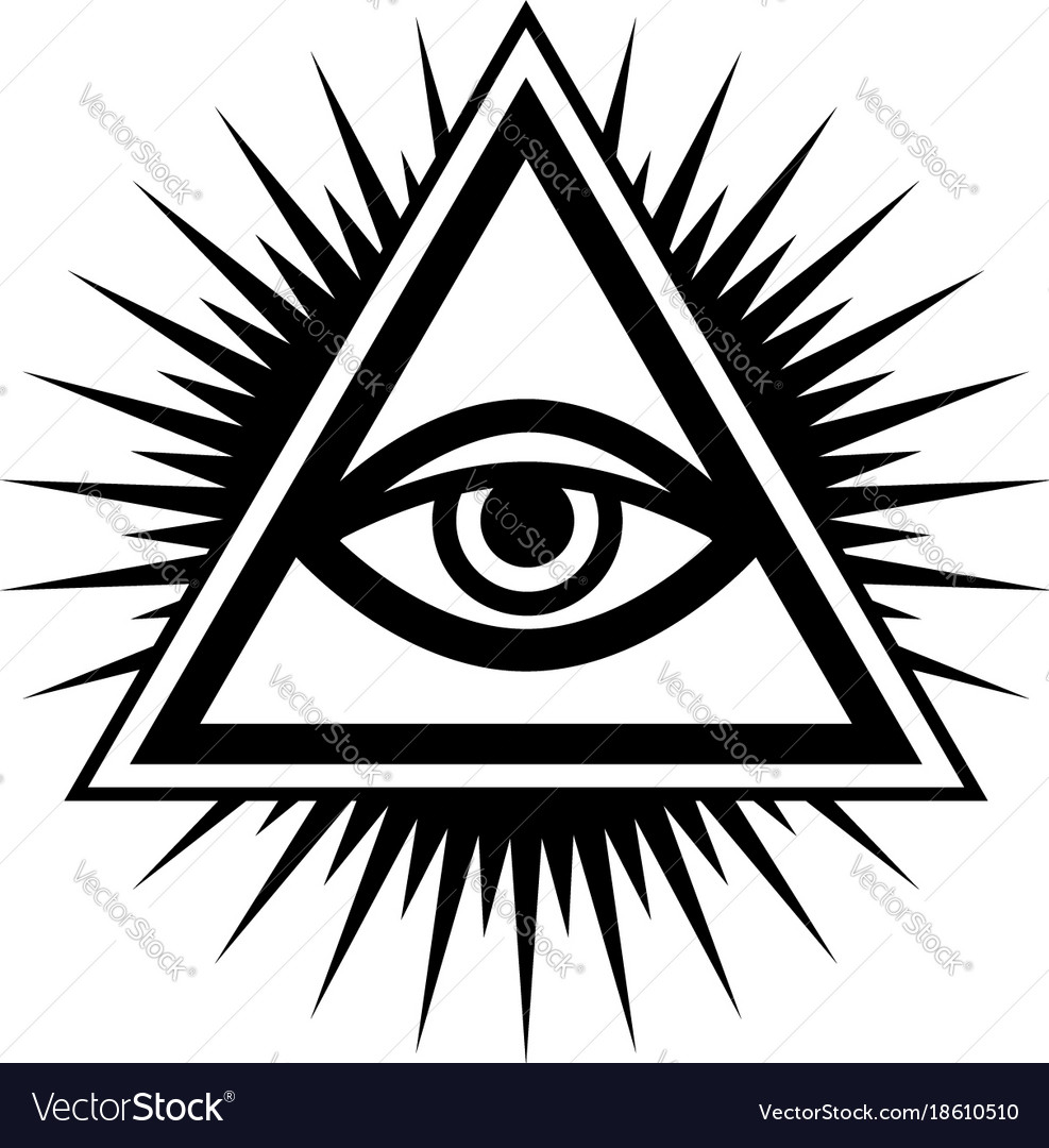all seeing eye the eye of providence royalty free vector