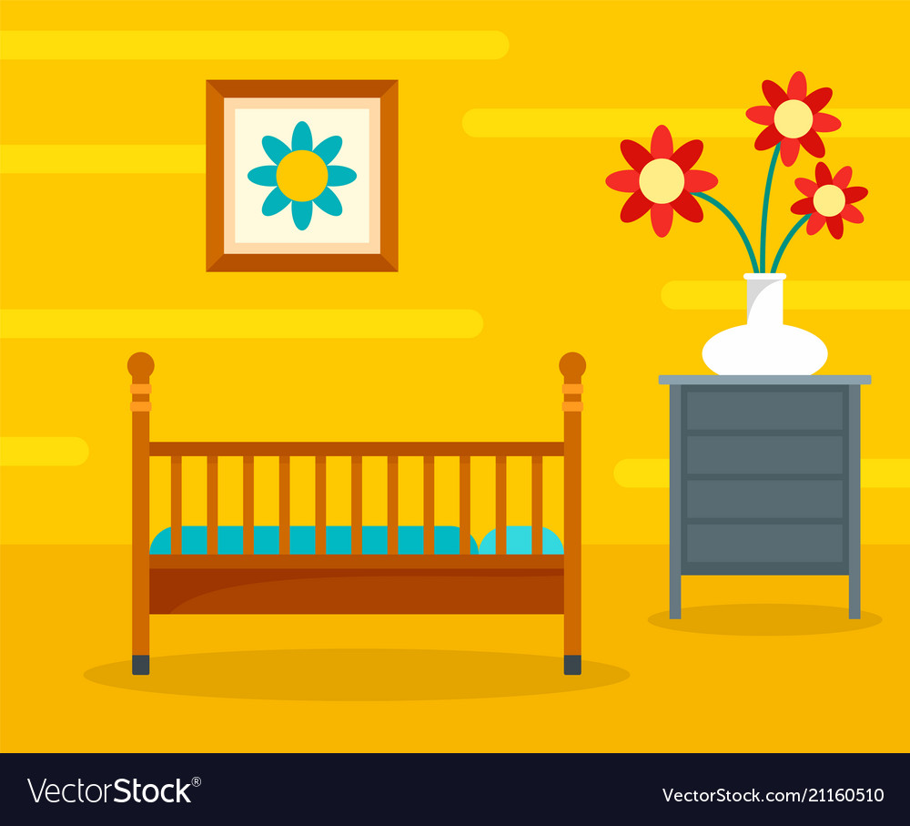 Baby room background flat style