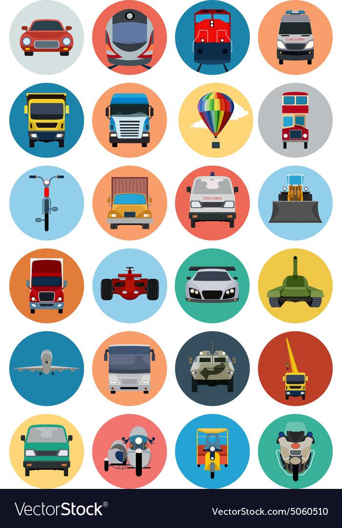 Flat Transport Icons 2