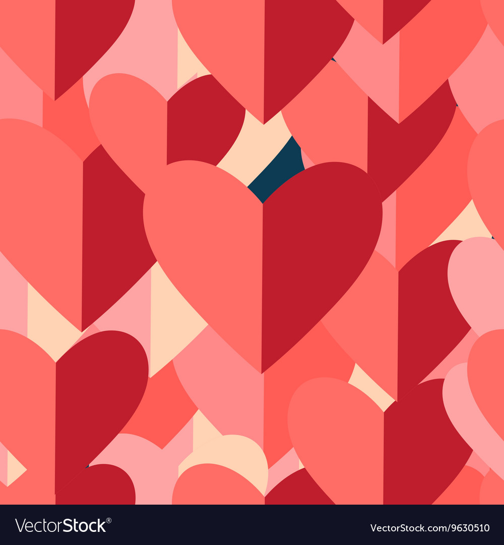 Graphic pattern of red hearts
