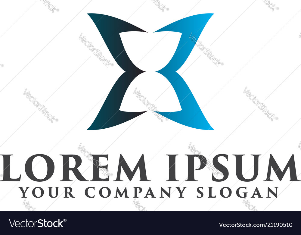 Hourglass luxury logo design concept template