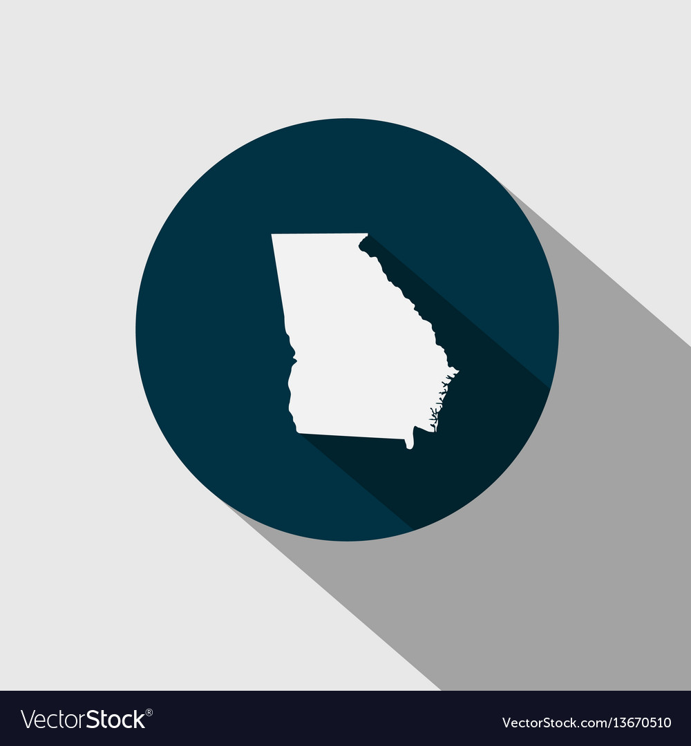 Map of the us state georgia