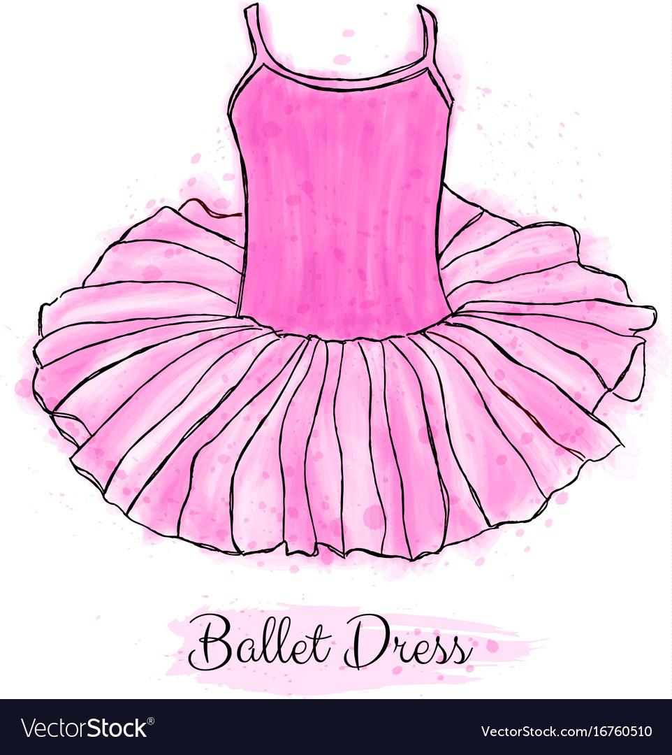cfe064b2f00d Pink ballerina tutu dress performance ballet Vector Image