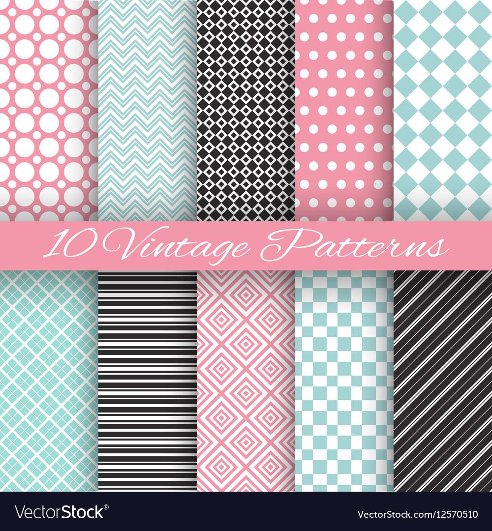 Retro chic seamless pattern