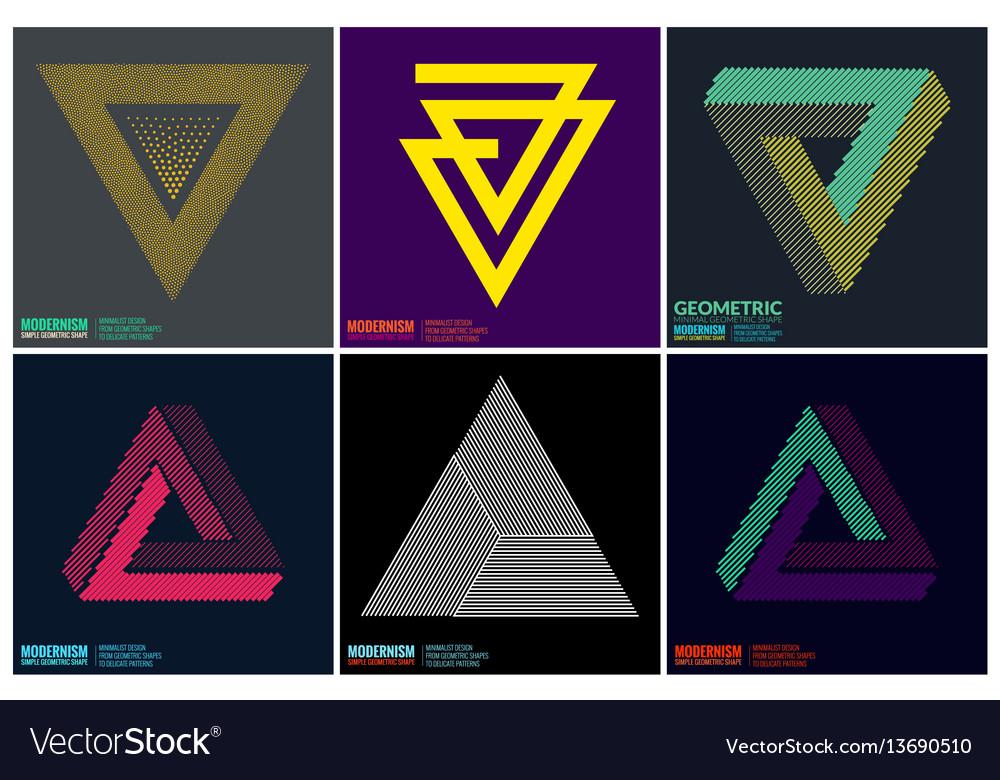 Simplicity geometric design vector image