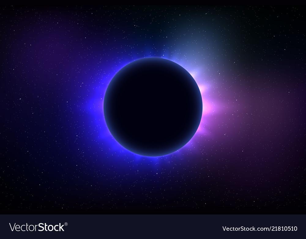 Total solar eclipse Royalty Free Vector Image - VectorStock