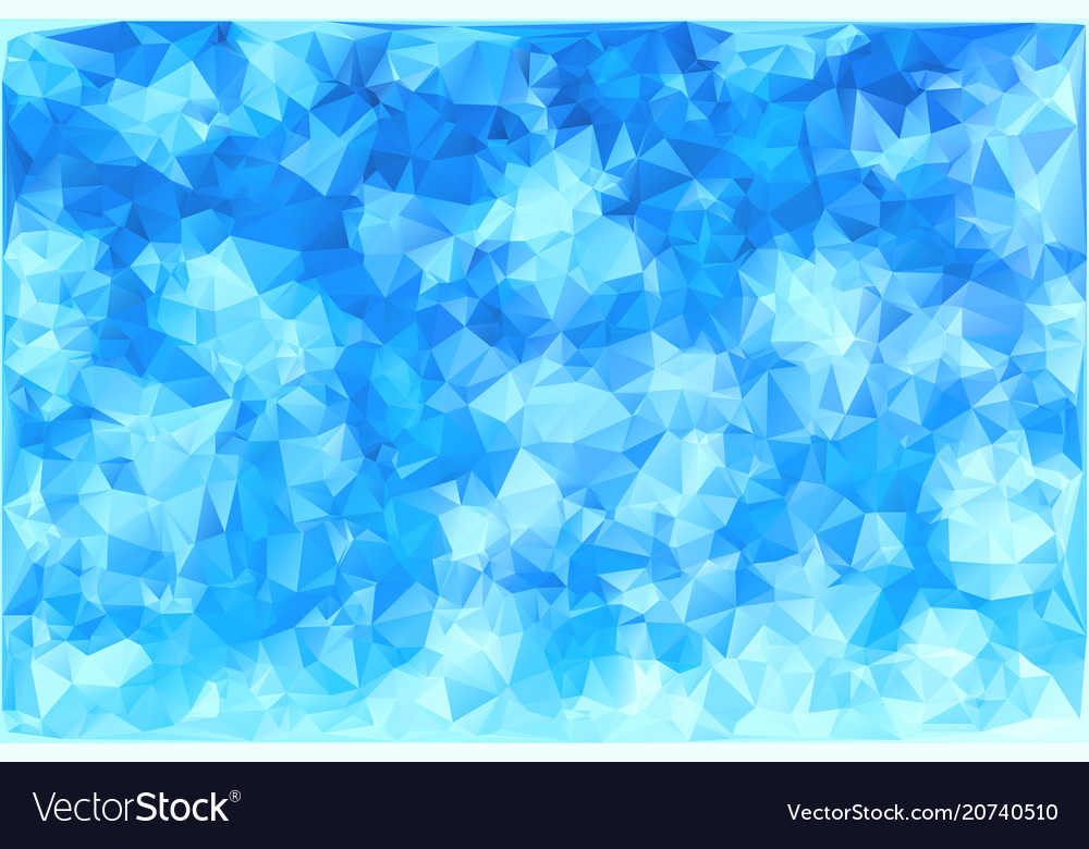 Triangular Winter Blue Ice Frost Background Vector Image Impressive Ice Pattern