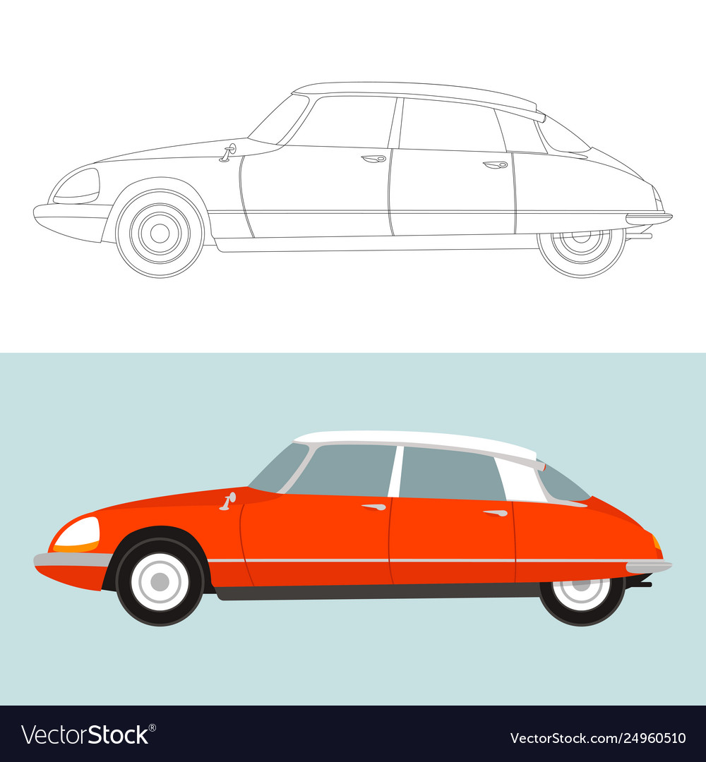 Vintage car lining draw