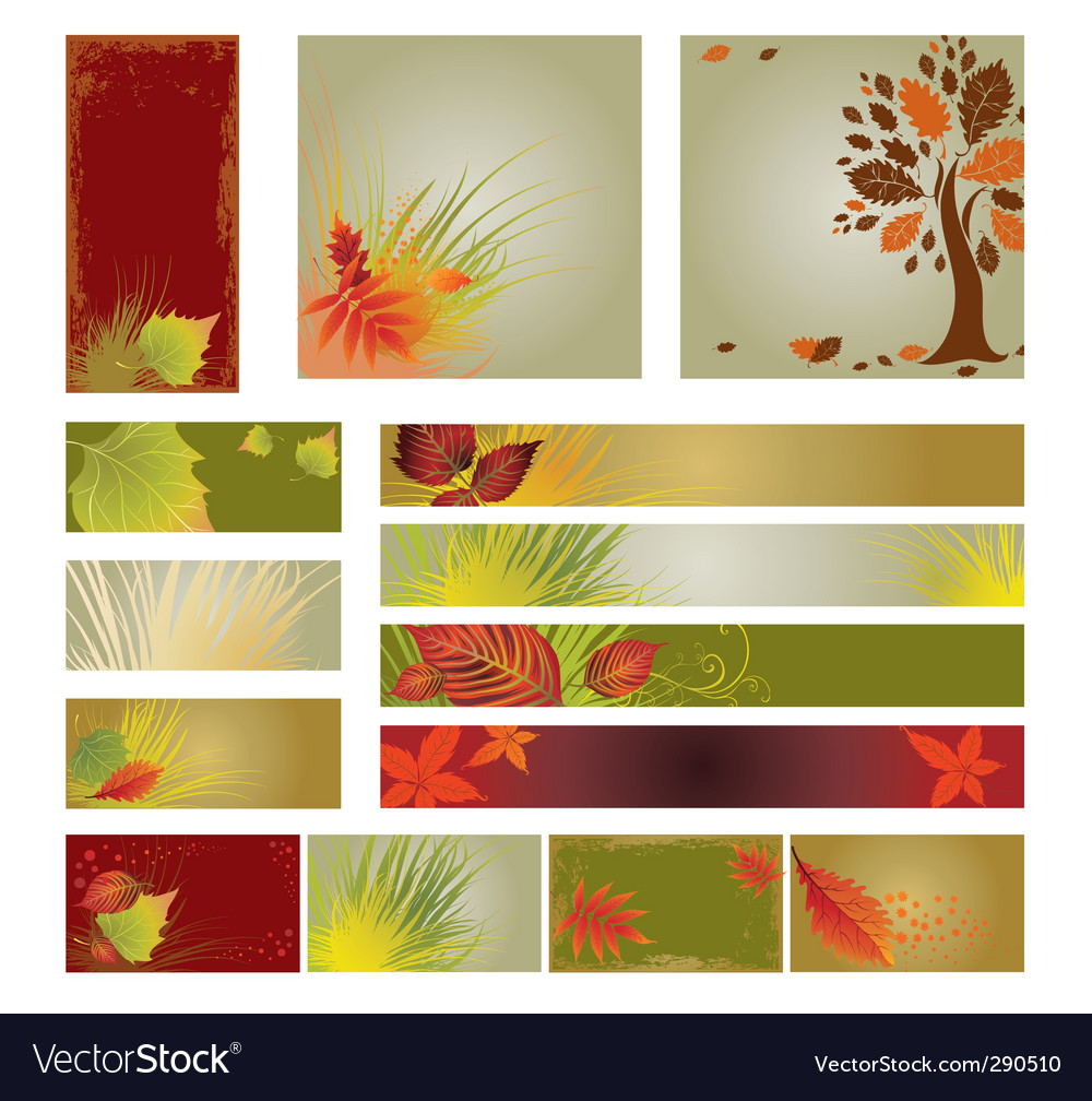 Web design banners vector image