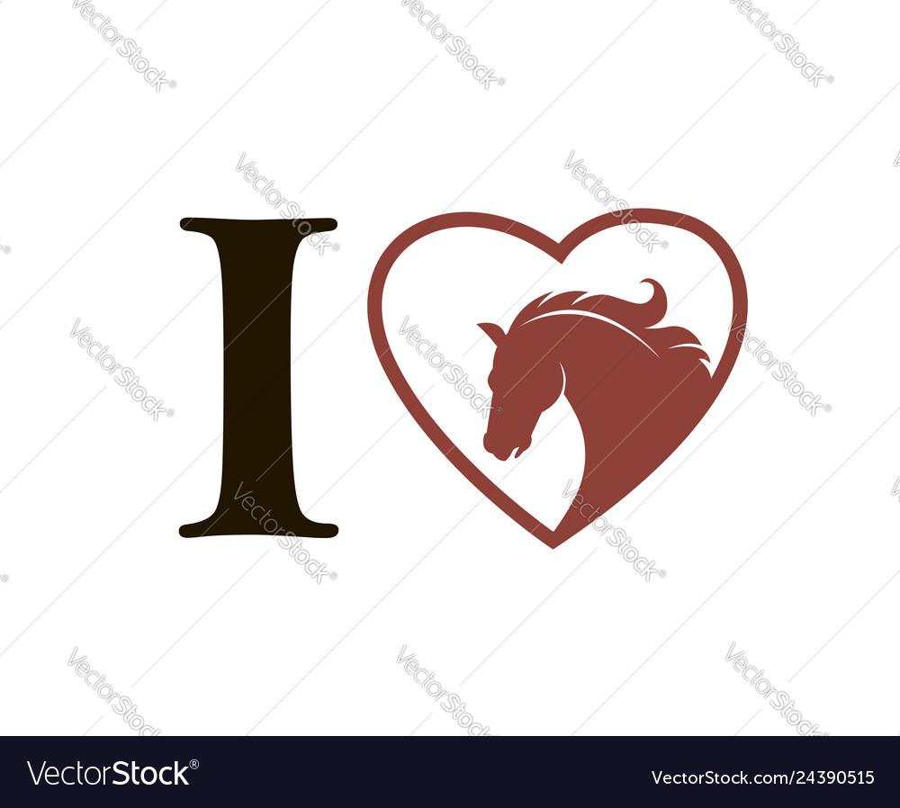 Emblem horse in heart