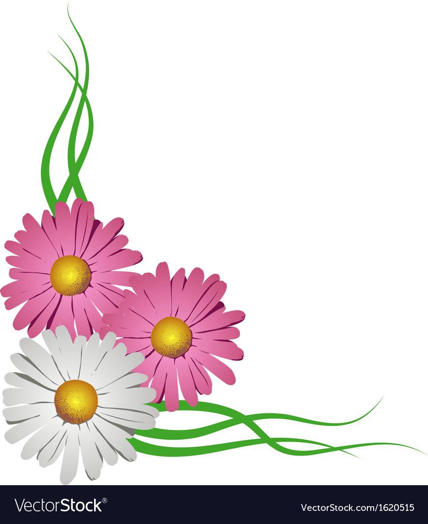 Floral corner vignette