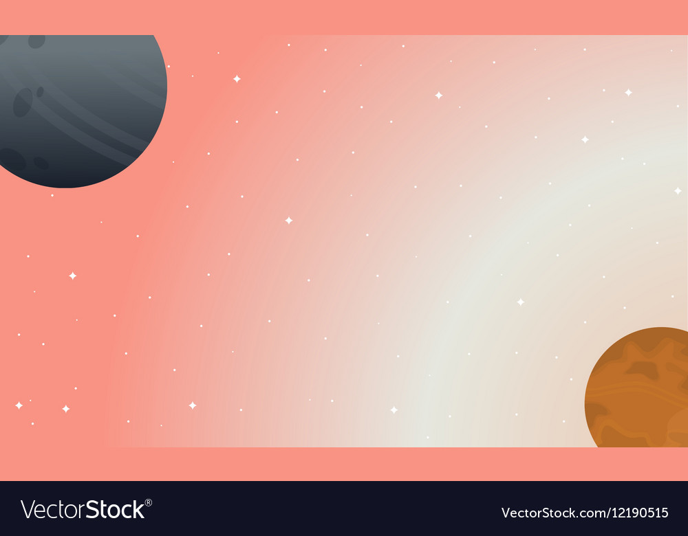 Nature on outer space landscape vector image