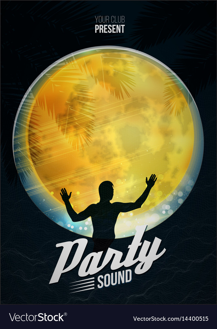 Party dance poster background template with