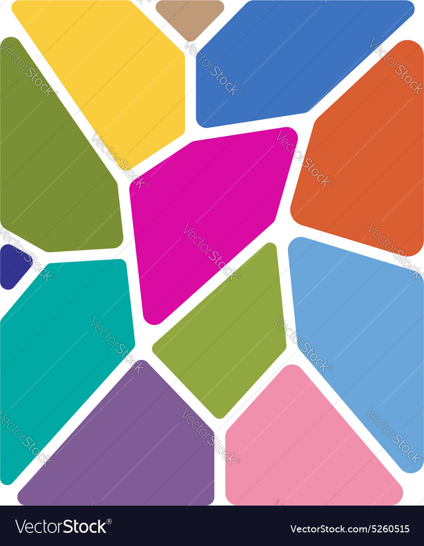 Stained glass abstract background for your design vector image