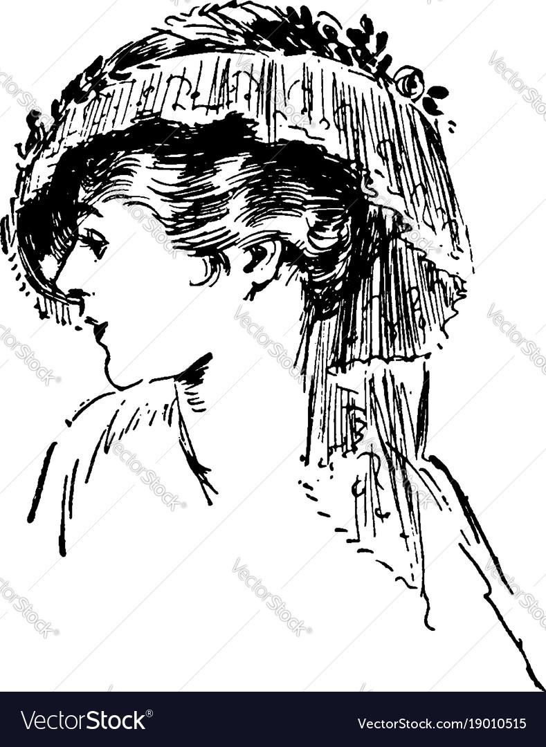 Tassel hat vintage engraving