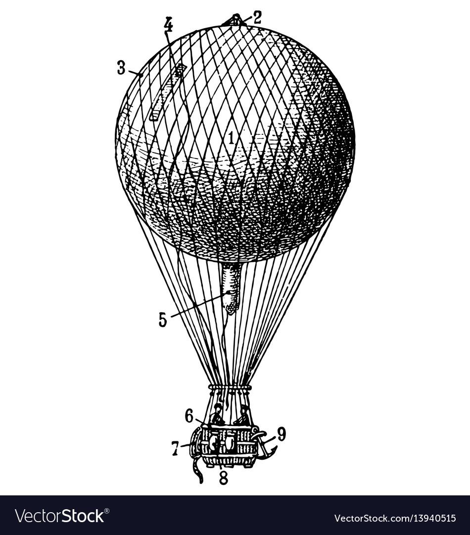 Vintage air balloon vector image