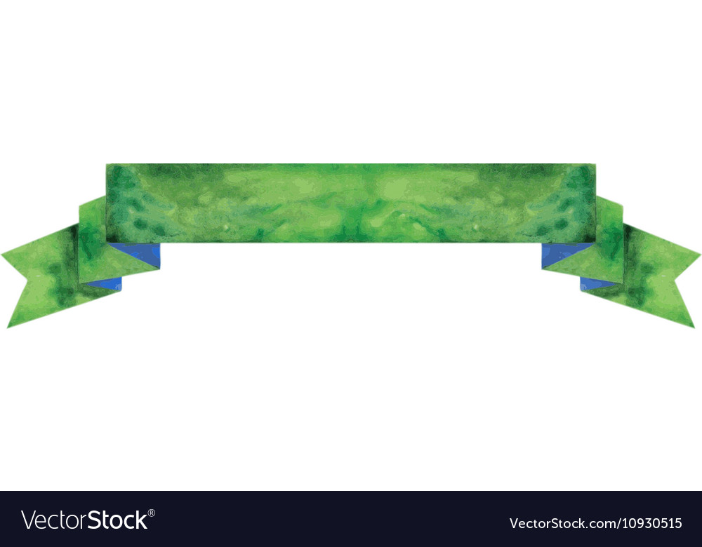 Watercolor dark-green banner vector image