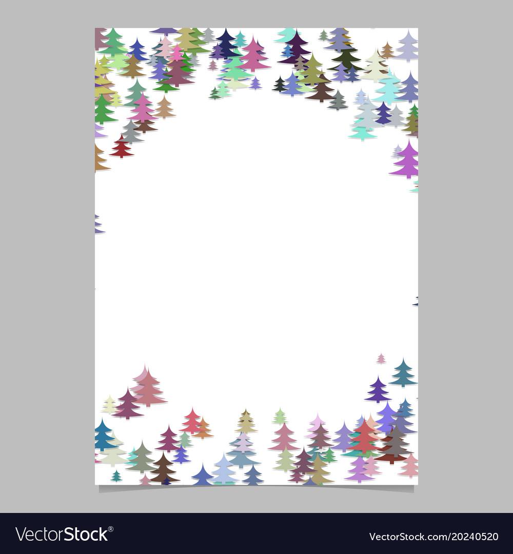 Abstract random seasonal pine tree design