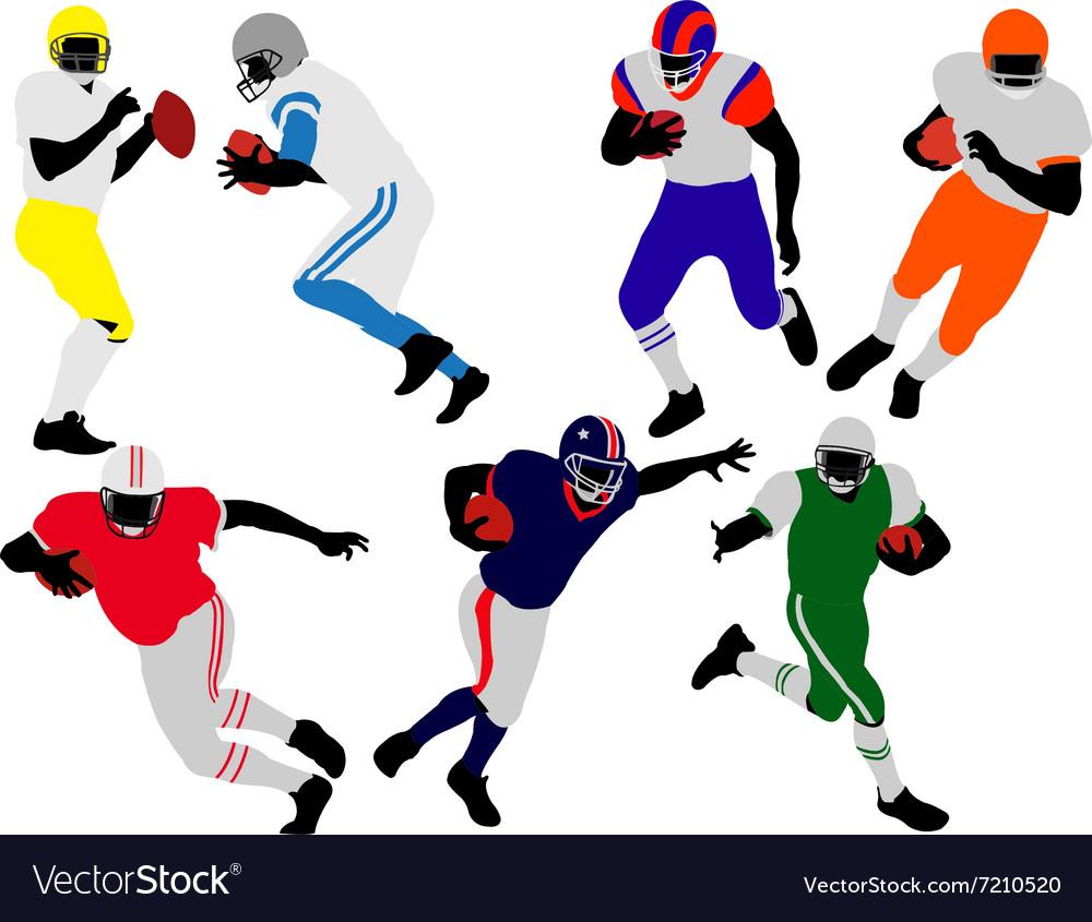 American football players vs