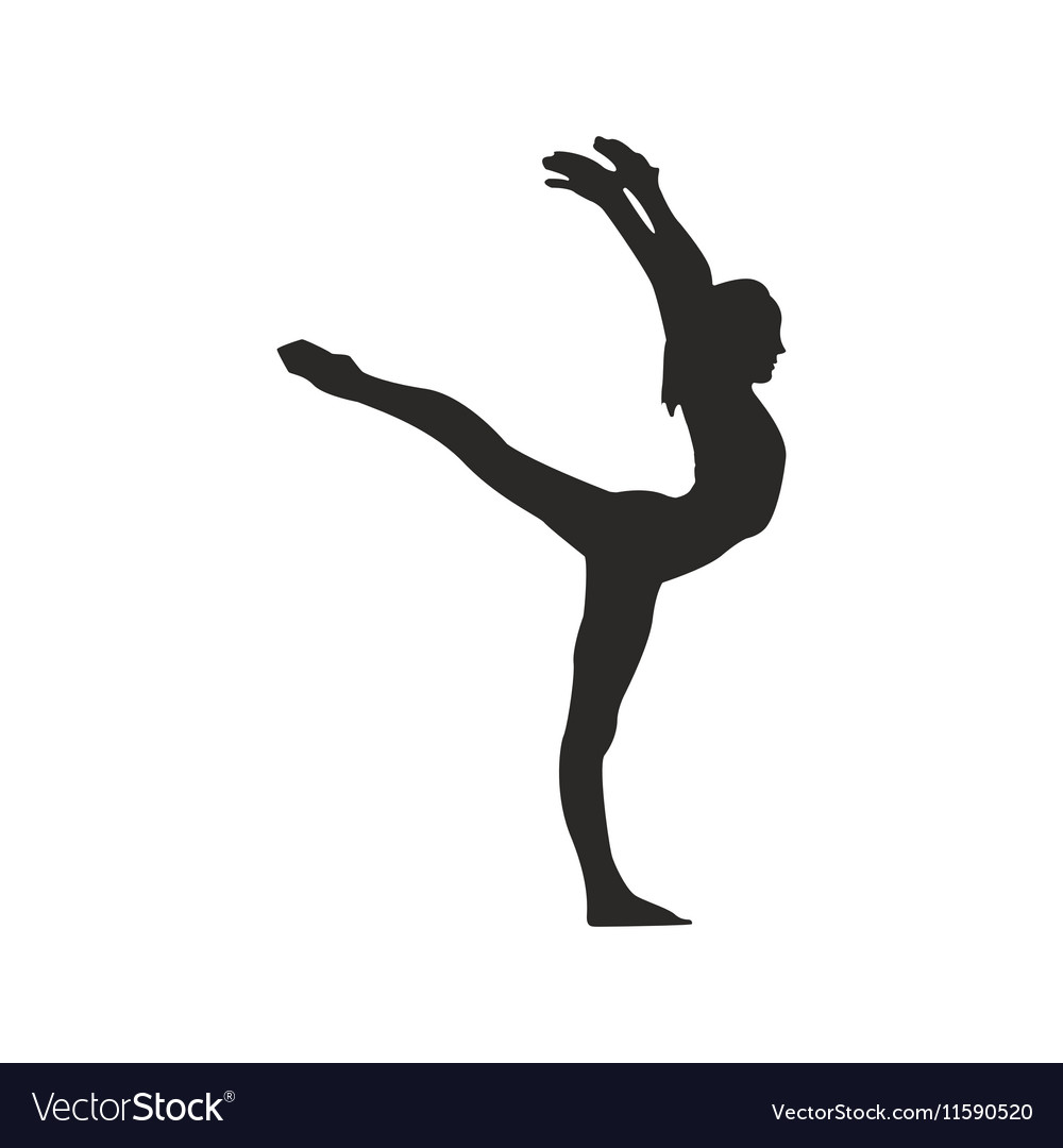 gymnastics silhouette royalty free vector image