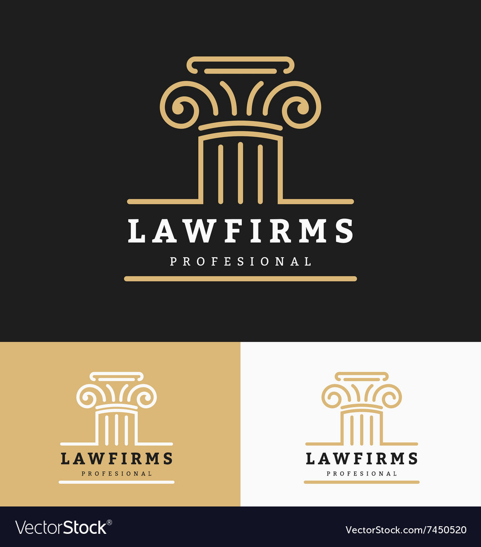 Law firms logo template